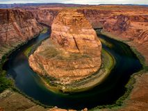 Horseshoe Bend, Arizona. A view of Horseshoe Bend in Arizona Royalty Free Stock Images