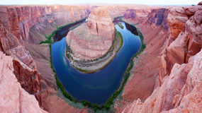 Horseshoe Bend Canyon Birds Eye View Photo Royalty Free Stock Photos