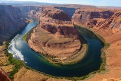 Horseshoe Bend Closeup Stock Photos