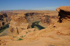 Horseshoe Bend at Colorado River Royalty Free Stock Photography