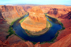 Horseshoe bend of Colorado river Stock Image