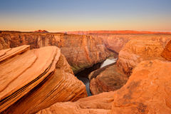 Horseshoe bend of Colorado river Royalty Free Stock Photo