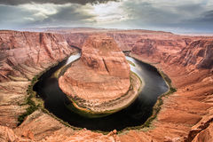Horseshoe Bend in the colorado river Stock Photography
