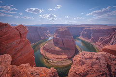 Horseshoe Bend on the Colorado river in Arizona Royalty Free Stock Photography