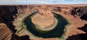Horseshoe bend Colorado River. Famous Horseshoe bend Colorado River near Page Arizona Stock Photo