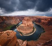 Horseshoe Bend and Colorado River Royalty Free Stock Photography