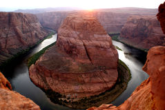 Horseshoe Bend colorado river Stock Photos