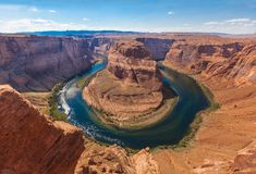 Horseshoe Bend Colorado Stock Photo