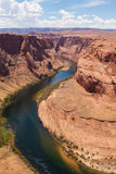Horseshoe bend of Colorado river in Page Arizona Stock Photography