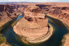 Horseshoe bend of Colorado river in Page Arizona Stock Photos