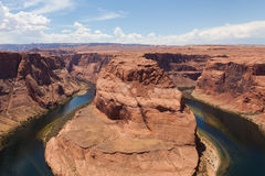 Horseshoe bend of Colorado river in Page Arizona Royalty Free Stock Images