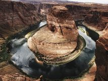 Horseshoe bend of Colorado river in Page Arizona Royalty Free Stock Photos