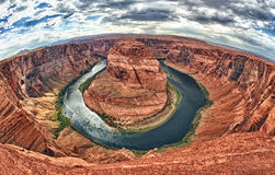Horseshoe bend colorado river view Stock Photo