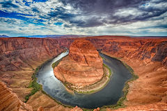 Horseshoe bend colorado river view 360 panorama Royalty Free Stock Images