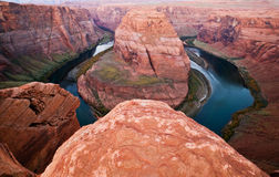 Horseshoe Bend Colorado River Vista In Arizona Stock Photography