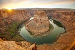 Horseshoe bend at Grand Canyon north rim Stock Photos