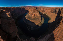 Horseshoe Bend meander of Colorado River in Glen Canyon, Arizona Stock Photo