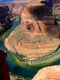 Horseshoe bend. Momument with clouds rolling in Royalty Free Stock Images
