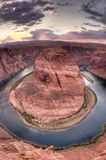 Horseshoe Bend near Page, Arizona at Sunset Royalty Free Stock Photo
