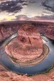 Horseshoe Bend near Page, Arizona at Sunset royalty free stock photo