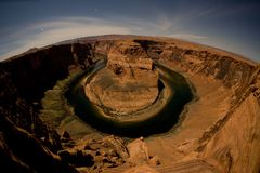 Horseshoe bend at night Royalty Free Stock Images