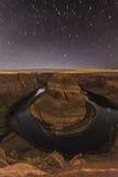 Horseshoe Bend Night Stock Images