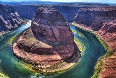 Horseshoe bend. Is one of those rare places that I visited, absolutely breathtaking areas on the Colorado River Royalty Free Stock Photography