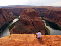 Horseshoe Bend overlook Royalty Free Stock Photo