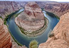 horseshoe bend in page, Arizona, river colorado Stock Photography