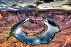 Horseshoe Bend Of Page stock images