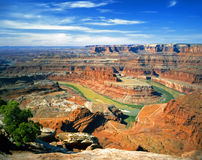 Horseshoe Bend Panoramic. A panoramic view of Horseshoe Bend on the Colorado River Royalty Free Stock Photography