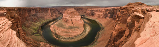 Horseshoe Bend Panoramic Royalty Free Stock Image