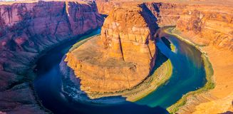 Horseshoe Bend panoramic view Royalty Free Stock Photography