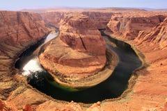 Horseshoe bend seen from overlook, Arizona, USA Stock Photography
