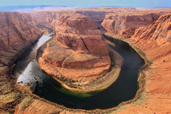 Horseshoe bend seen from overlook, Arizona, USA Royalty Free Stock Image