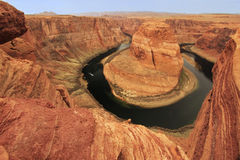Horseshoe bend seen from overlook, Arizona, USA Stock Photo