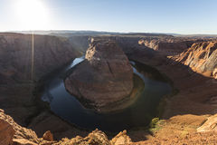 Horseshoe Bend Sunet on the Colorado River Royalty Free Stock Photography