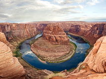 Horseshoe Bend at sunset Stock Image