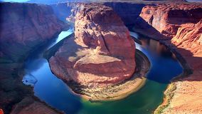 Horseshoe Bend before sunset, near Page, Arizona, USA stock video
