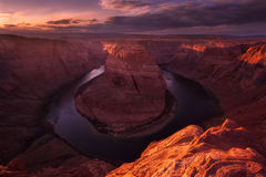 Horseshoe Bend Sunset Royalty Free Stock Photo