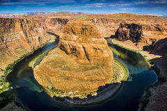 Horseshoe Bend. A view of Horseshoe Bend in Arizona stock image