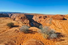 Horseshoe Bend viewpoint Royalty Free Stock Images