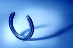 Horseshoe blue cast Royalty Free Stock Images