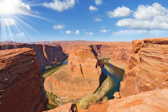 The Horseshoe Canyon and Colorado River Royalty Free Stock Images