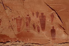 Horseshoe Canyon Great Gallery Stock Photos