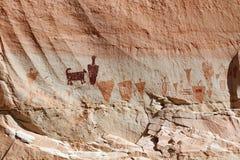 Horseshoe Canyon Pictographs Stock Image