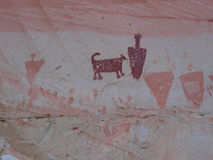 Horseshoe Canyon Pictographs Stock Images