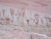 Horseshoe Canyon Pictographs Royalty Free Stock Photography