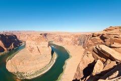 Horseshoe of the Colorado river Stock Photos