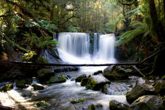 Horseshoe Fall in Tasmania Stock Photo